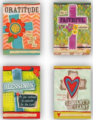 Colorful Crosses, Ministry Appreciation Cards, Box of 12  -