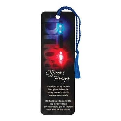Police Officer's Prayer Bookmark with Tassel  -