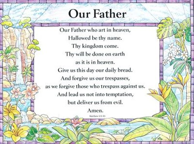 Catholic: Our Father - Laminated Poster   -