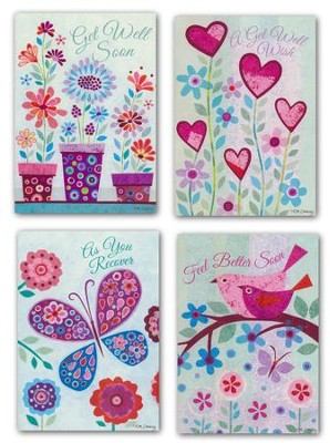 Charming Wishes--Get Well, Assorted Boxed Cards  -