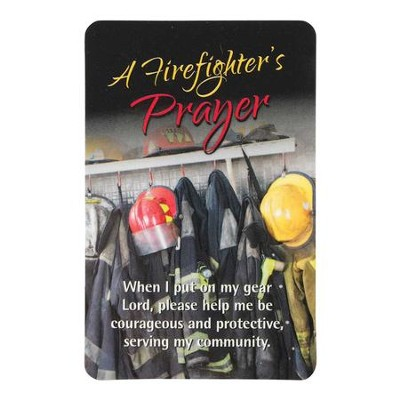 Firefighter's Prayer Pocket Card  -