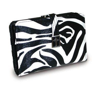 Cross Wallet with Coin Purse, Zebra  -