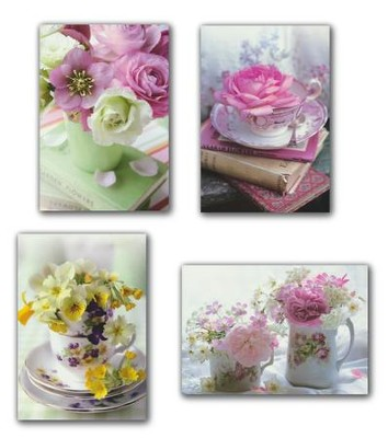 Teacup Wishes, Blank Cards, Box of 12 (KJV)   -