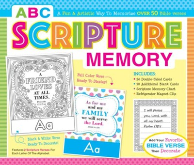 ABC Scripture Memory Boxed Set (I'm Learning the Bible Flash Cards)  -     By: Karen Mitzo Hilderbrand, Kim Mitzo Thompson