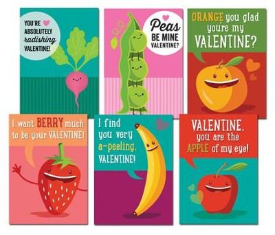 Food for Thought Valentine's Day Cards,  Box of 12  -