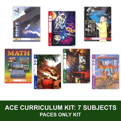 ACE Comprehensive Curriculum (7 Subjects), Single Student PACEs Only Kit, Grade 4, 3rd Edition (with 4th Edition Science & Social Studies)  -