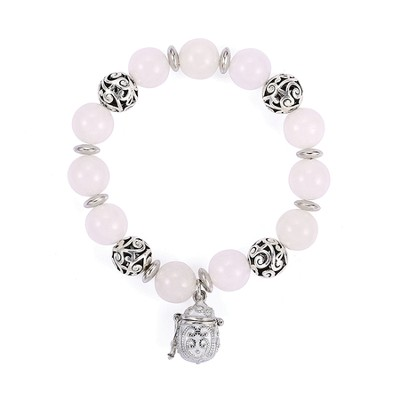 Prayer Box Enamel Bracelet, White  -