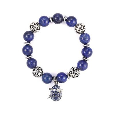 Prayer Box Enamel Bracelet, Blue  -