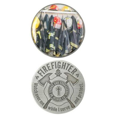 Firefighter's Prayer Pocket Stone  -
