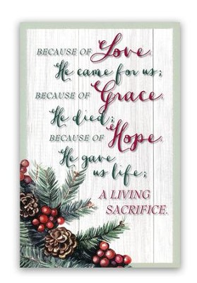 Because of Love Christmas Cards, Box of 18  -