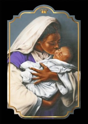 Mother and Child Christmas Cards African American, Box of 15  -