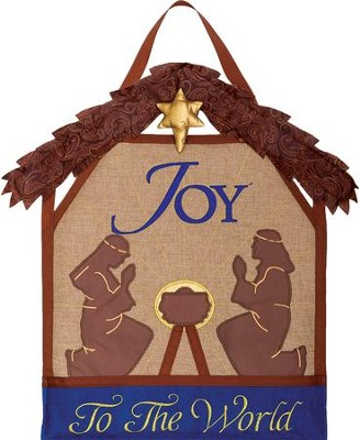 Joy To The World, Manger, Wall Decor  -