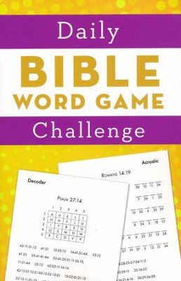 Daily Bible Word Game Challenge  -     By: Barbour Publishing