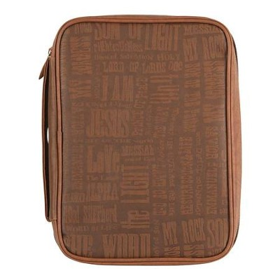 Names of Jesus Bible Cover, Large, Brown  -