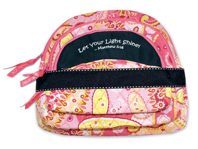 Let Your Light Shine, Quilted Cosmetic Bag, Pink  -