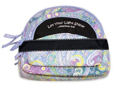Let Your Light Shine, Quilted Cosmetic Bag, Blue  -
