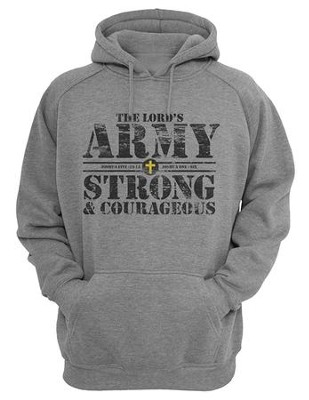 The Lord's Army, Hooded Sweatshirt, Gray, Medium  -