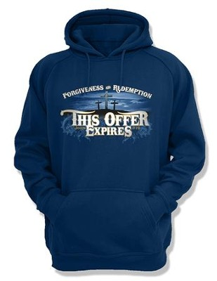This Offer Expires, Hooded Sweatshirt, Navy, Large  -