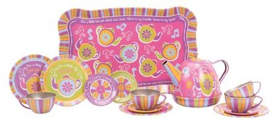 Musical Tin Tea Set  -