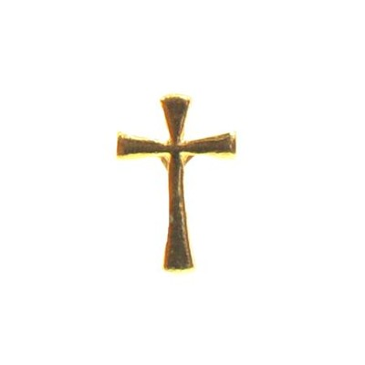 Cross Lapel Pin, Gold Plated  -