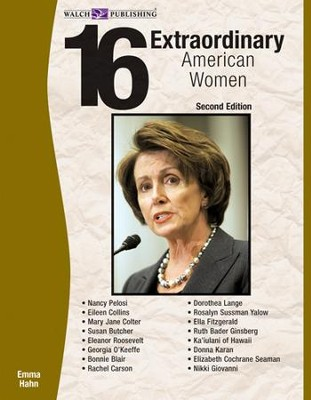 16 Extraordinary American Women, 2nd Edition - PDF Download  [Download] -     By: Emma Hahn