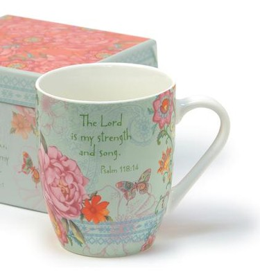 The Lord Is My Strength Boxed Mug                -     By: Sandy Clough
