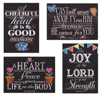 Get Well Boxed Cards, Chalk Art, Box of 12  -