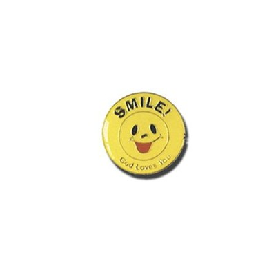 Smile, God Loves You Lapel Pin  -
