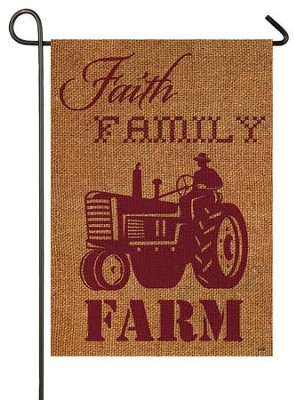 Faith, Family, Farm Flag, Small  -