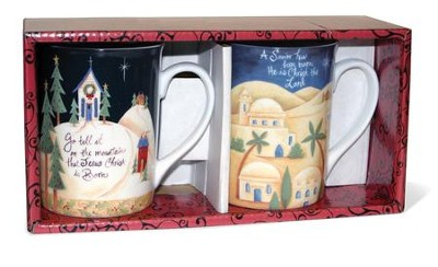 Bethlehem and Go Tell It On the Mountain Mugs, Set of 2  -