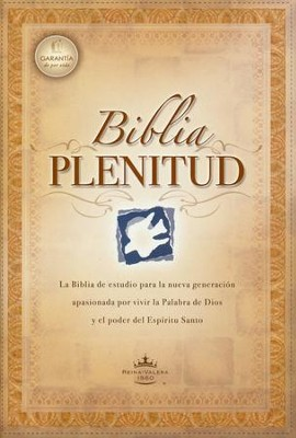 Biblia Plenitud RVR 1960 Tam. Manual, Enc. Rústica  (RVR 1960 Spirit-Filled Life Bible Handy Size, Softcover)  -