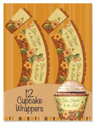 Give Thanks To the Lord Cupcake Wrappers, Pack of 12  -