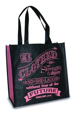 Strength and Dignity - Proverbs 31, Eco Tote    -