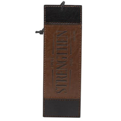 Strength Bookmark, Brown and Tan  -