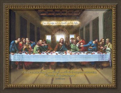 I Am The Way, Last Supper Framed Art  -     By: Leonardo DaVinci