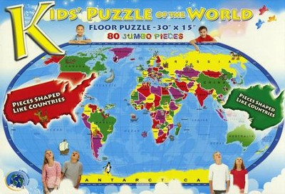 Kids' Puzzle of the World 80 Piece Jigsaw Puzzle   -