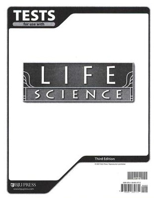 BJU Life Science Grade 7, Tests (Third Edition)    -