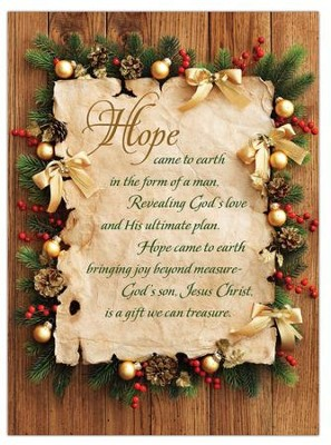 Hope Came to Earth Box of 12 Christmas Cards  -