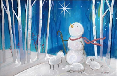 Snowman Shepherd, Box Of 20 Cards  -     By: Traci Chapman
