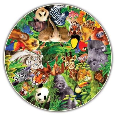 Wild Animals, 500 Piece Round Puzzle   -     By: Michael Searle