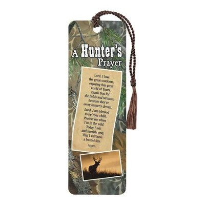 A Hunter's Prayer Bookmark with Tassel  -