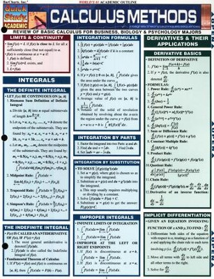 Calculus Methods Chart   -