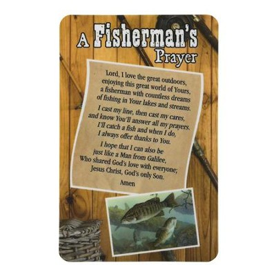 A Fisherman's Prayer Pocket Card  -