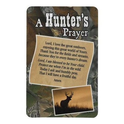 A Hunter's Prayer Pocket Card  -