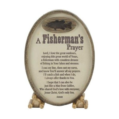 A Fisherman's Prayer Tabletop Plaque  -