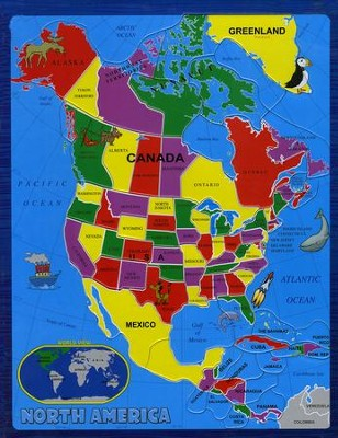 North America, 55 Piece Puzzle   -