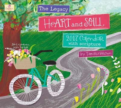 2017 Heart and Soul Wall Calendar  -     By: Tamara Brown