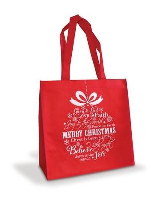 Merry Christmas Words Ornament Eco Tote Bag
