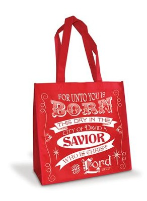 Luke 2:11/For Unto You Is Born, Eco Tote Bag  -