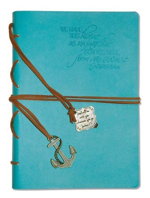 Hope As an Anchor, Blue Journal with Charm  -